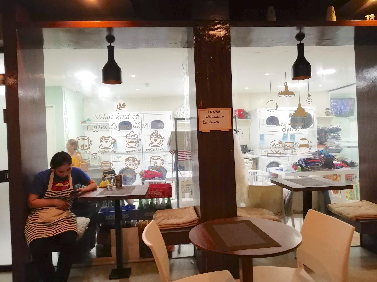 【当日OK】セブにあるお洒落カフェ併設のランドリーショップ!