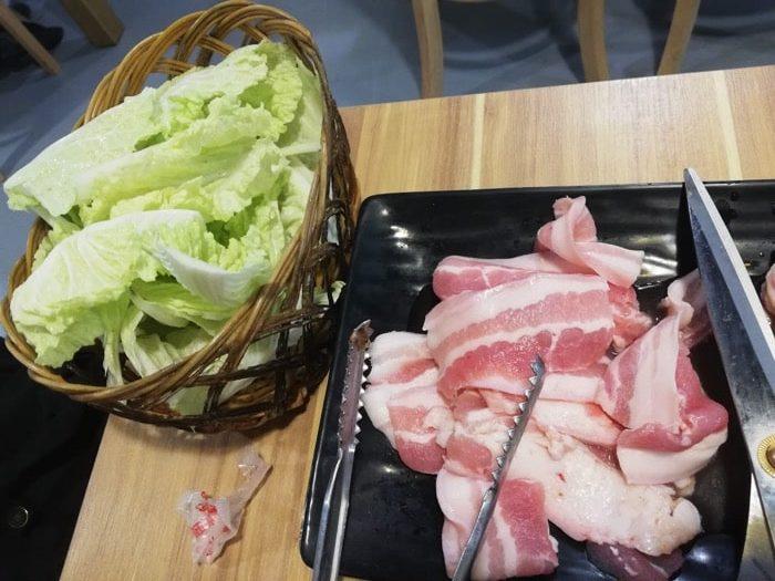セブ韓国焼肉BADA、野菜もあるよ